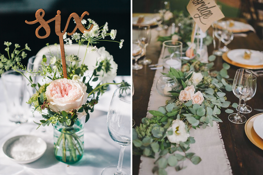 Διακόσμηση τραπεζιού γάμου - Τέσσερις όμορφες ιδέες