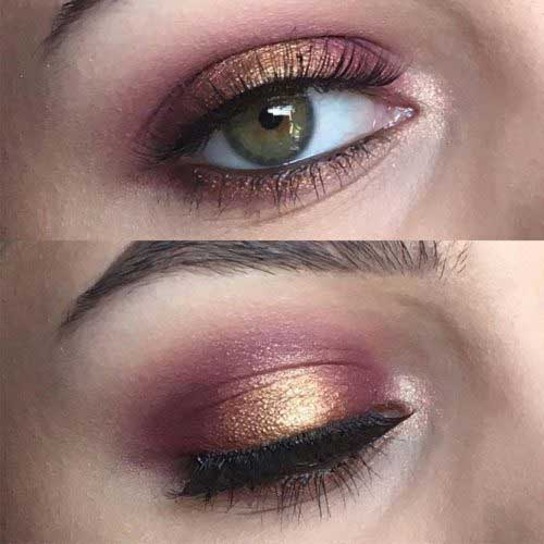 Νυφικό μακιγιάζ με χρυσό